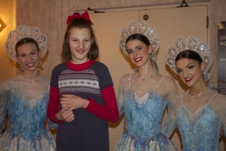 girl with ballerinas